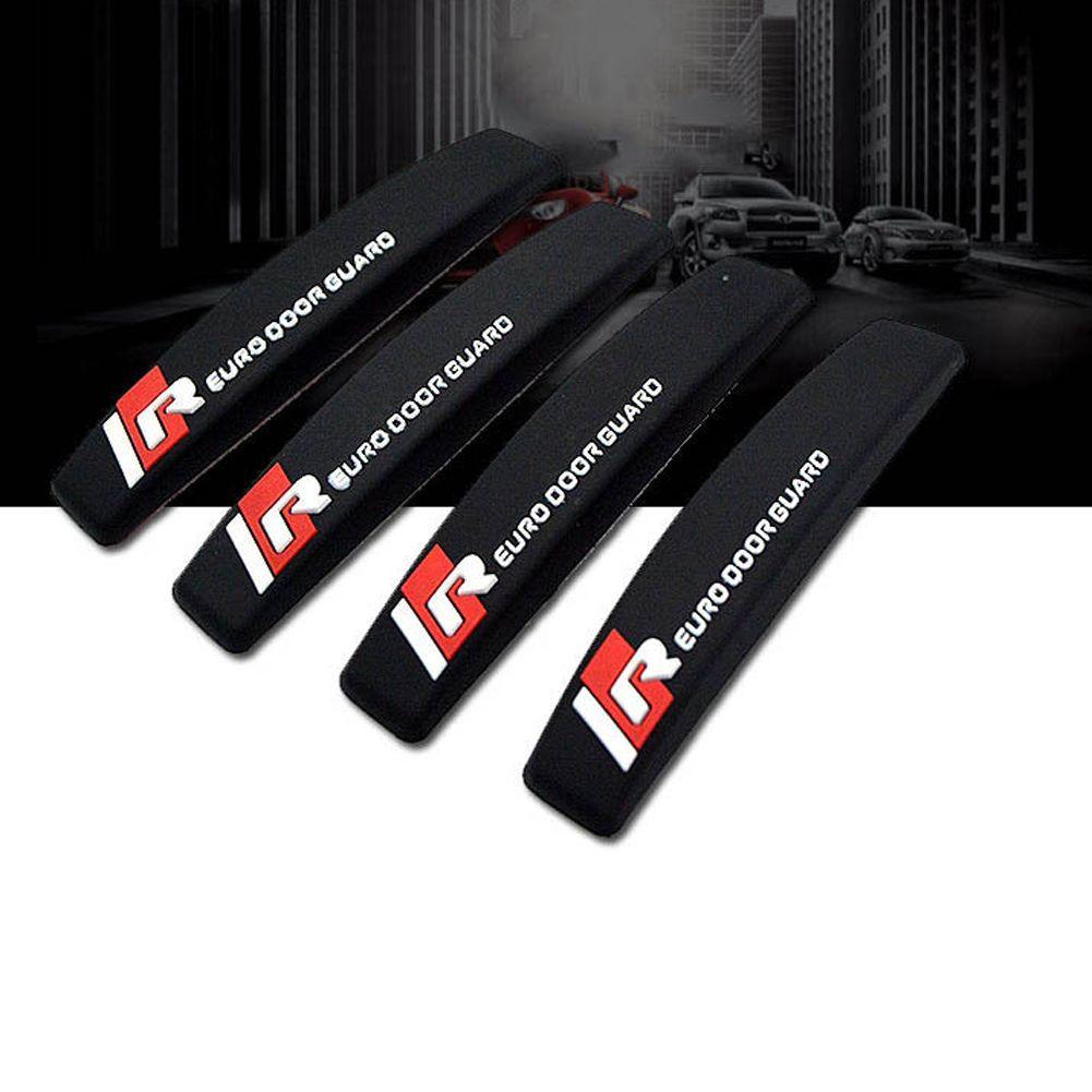 4 Pcs pure color Auto Car Door Edge Protector Scratch Strip Guards Bumper Kit Set-black/white/grey