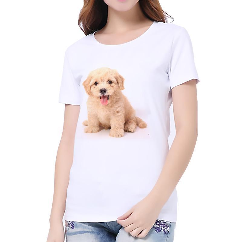 JIANWEILI Summer T shirt women Naughty Cat Dog Printing Originality O-Neck harajuku Short Sleeves thin T-shirts Tee Tops tshirt