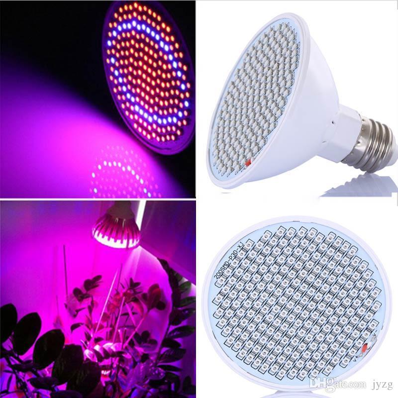 LED 전구 조명 E27 LED 식물 램프 166 빨간색 34 정원 녹색 집 수경 재배 식물 묘목 성장 20W AC85-260V