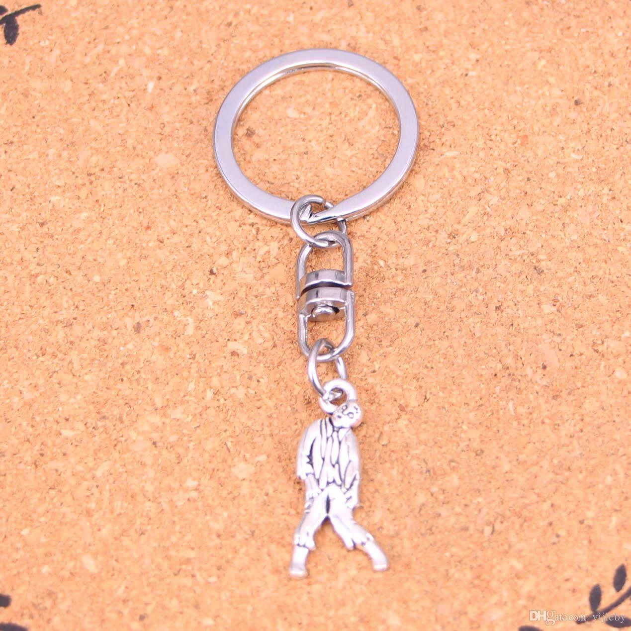 New Fashion Keychain 12*27mm walking dead zombie corpse Pendants DIY Men Jewelry Car Key Chain Ring Holder Souvenir For Gift
