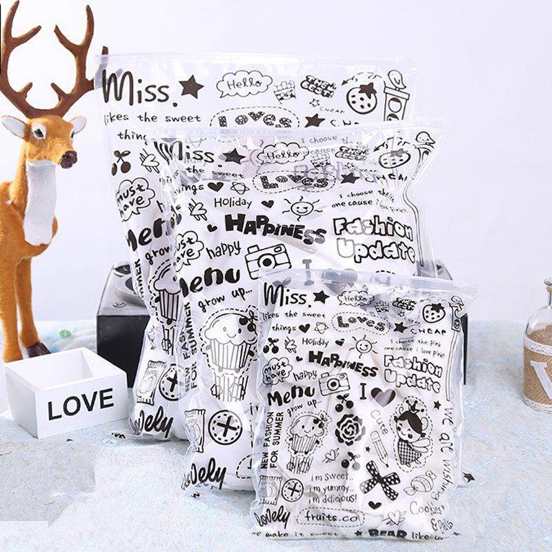 만화 의류 보관 가방 방수 의류 신발화물 가방 의류 소매 가방 지퍼 플라스틱 가방