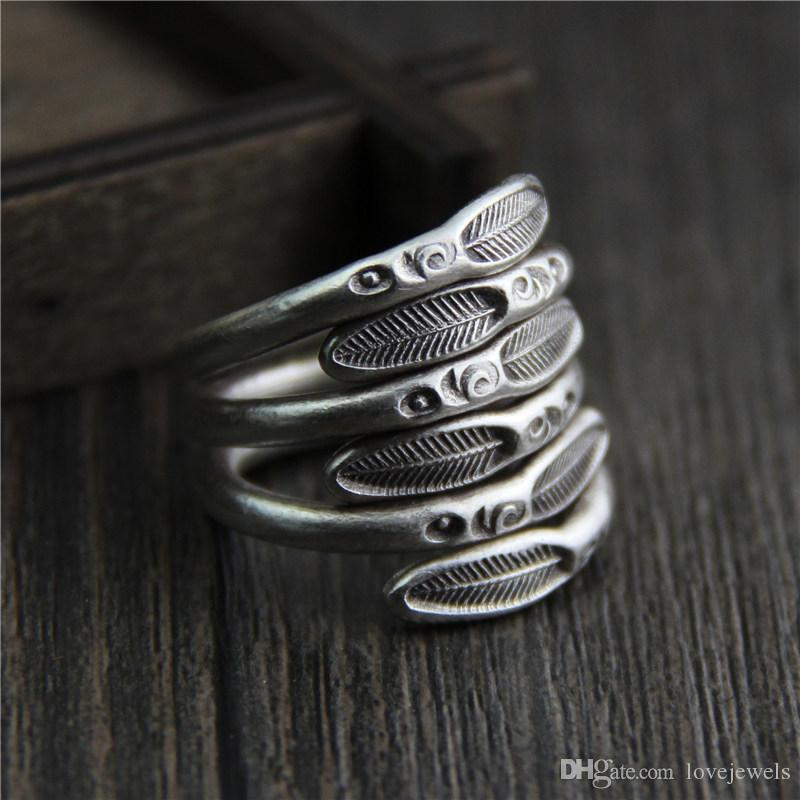 designer jewelry fashion charms 999 sterling silver rings Handmade Simple mens and women retro marcasite exaggeration vintage china direct