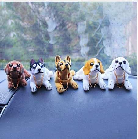 Bobbing Head Puppy Bobble Head Dog Animal  Car Dash New Toy 3pcs set