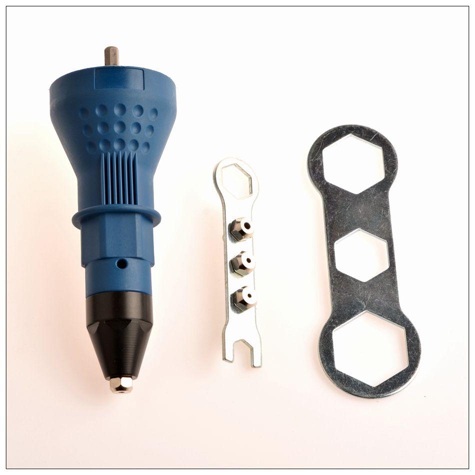 Freeshipping Electric Rivet Nut Gun rivettatura attrezzo cordless rivettatura Trapano adattatore Inserto strumento dado multifunzione Nail Gun