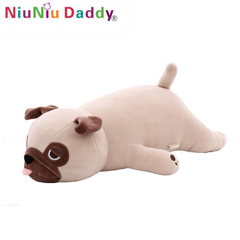 Niuniu 아빠 부드러운 견면 벨벳 강아지 장난감 동물 귀여운 강아지 사랑스런 만화 아기 키즈 장난감 생일 선물 50cm