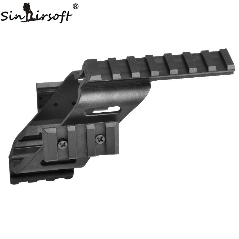 "SINAIRSOFT Universal Tactical Pistol Scope Sight Laser Light Mount With Quad 7/8"" Weaver & Picatinny Rail G lock 17 5.56"