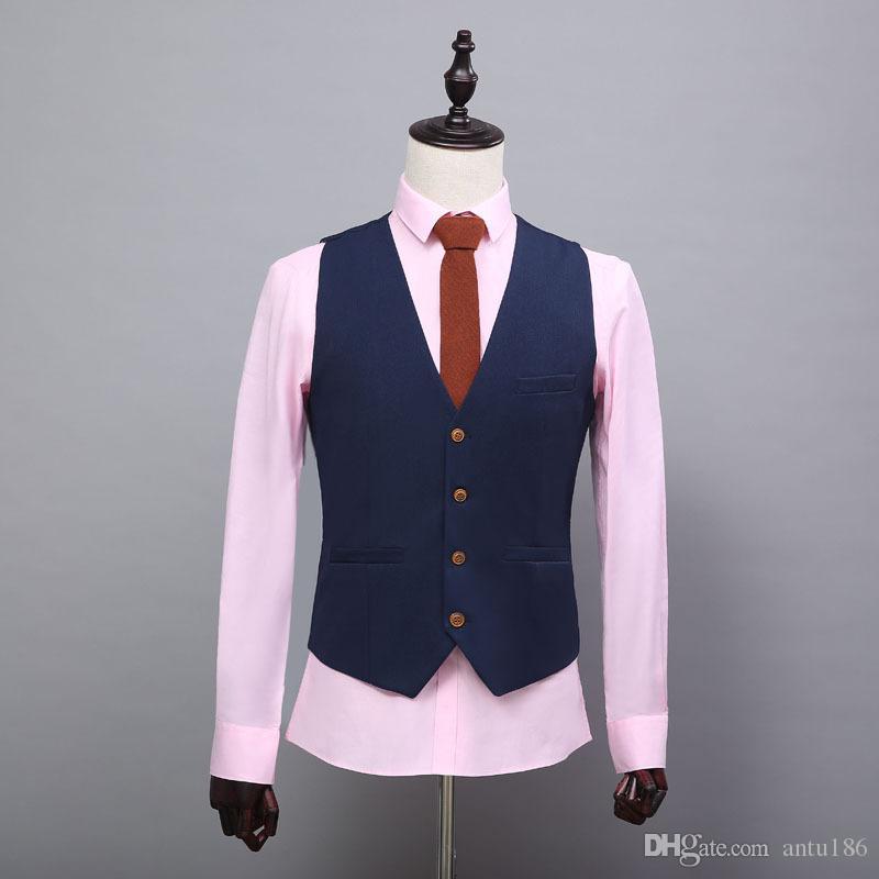 En çok satan yeni sonbahar erkek yelek moda ince yelek erkek rahat eğilim elbise yelek iş resmi erkek giyim