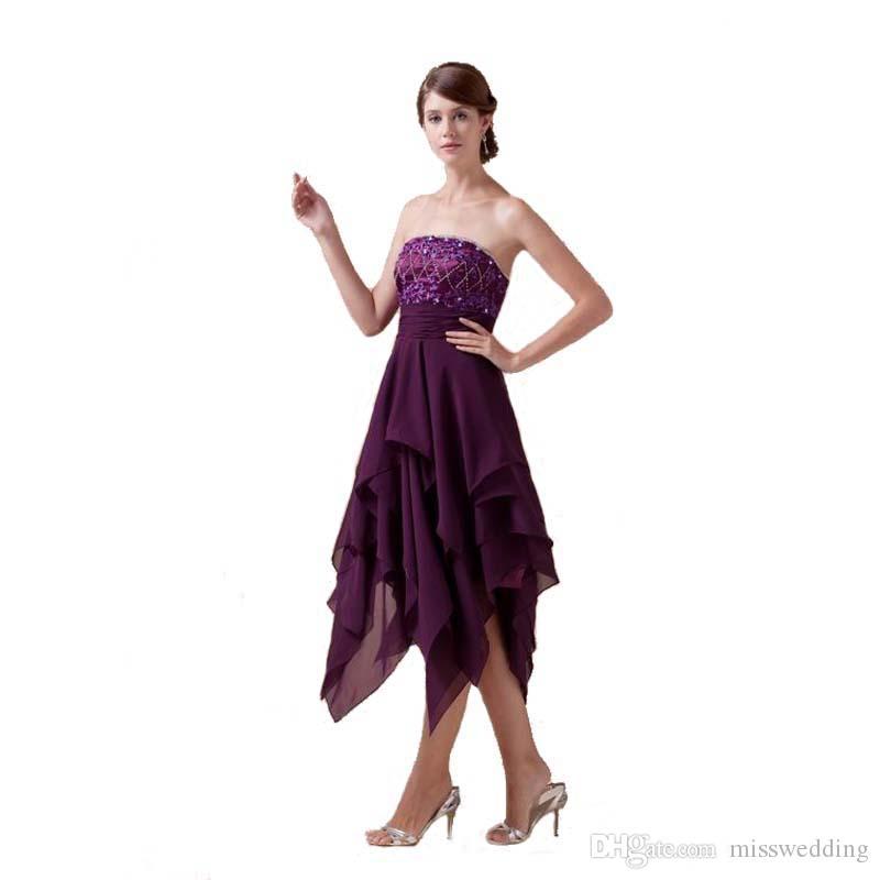 Dernier style de l'épaule de la mode robe de cocktail perlée Zip Back European Design thé longueur robe de soirée