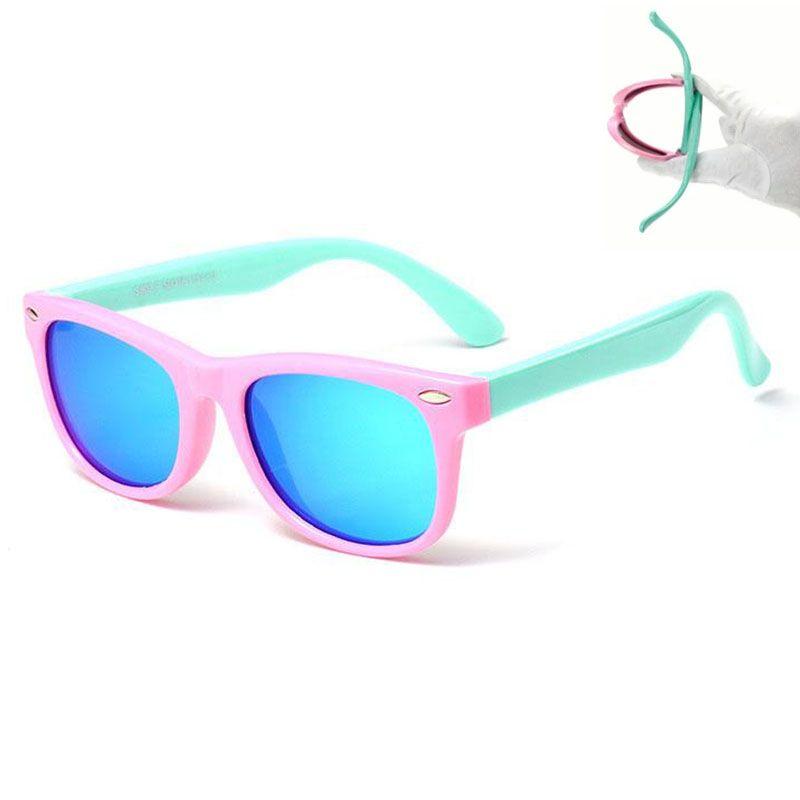 Младенческие дети Солнцезащитные очки Поляризованные Детские Детские оттенки Гибкие Очки Мода Sun UV400 Защитные Очки TR90 Накрытие