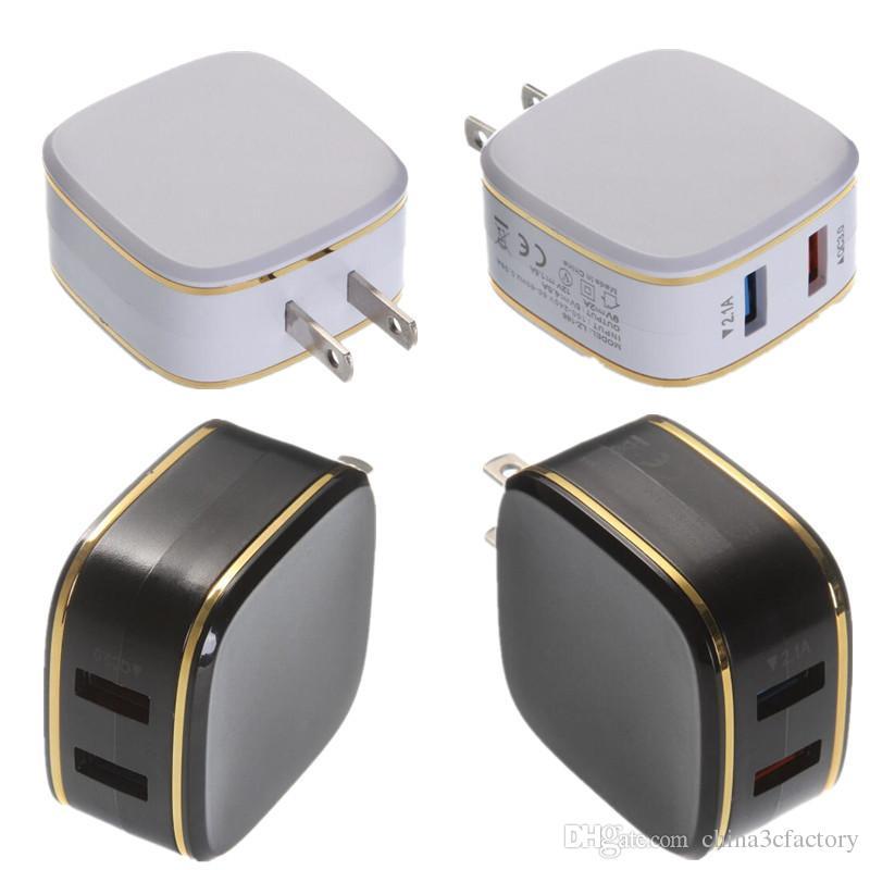 Быстрое зарядное устройство 5В 4.5 A двойной USB зарядное устройство мобильного телефона QC3 у.0 быстрое зарядное устройство адаптер США штекер для Huawei П9 чехол