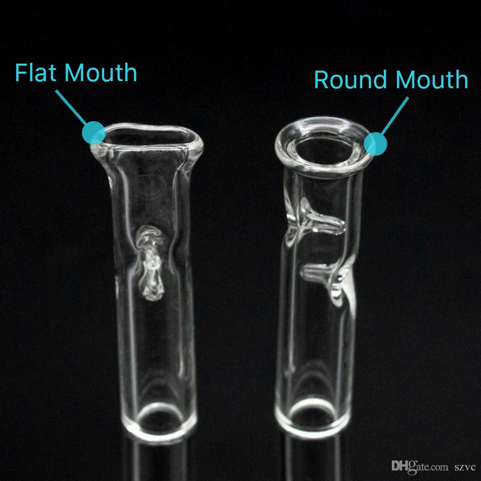 Glass oil burner pipe Cheap Glass Pipe Cigarette Filter bat One Hitter Pipe with Clear Glass Straw Tube Filter Tips Bong Dab rig