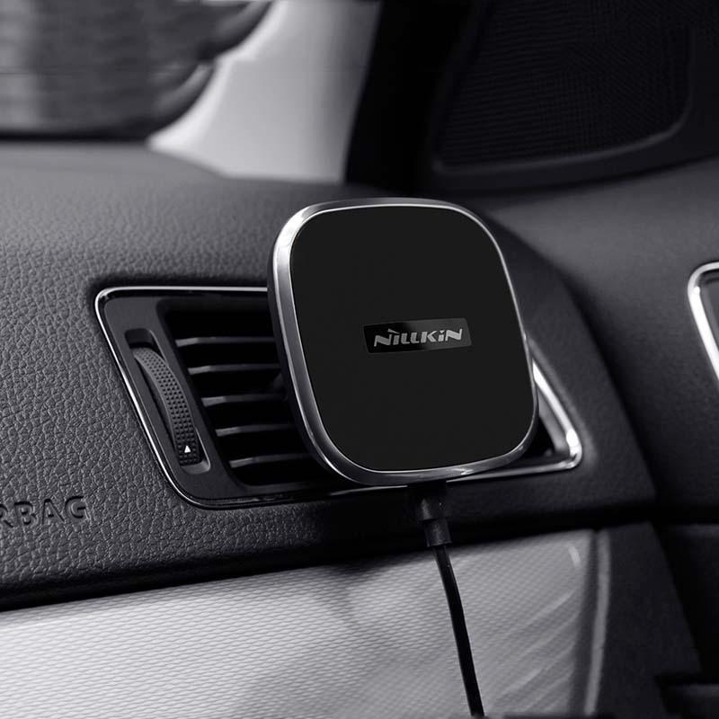Geliştirmek araba manyetik Qi kablosuz şarj tutucu hava firar dağı ped için samsung s8 / not 8 iphone 8 için iphone X