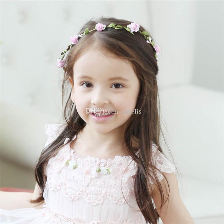 Невеста невесты головной убор гирлянда цветочный оголовье цветок девушка венок оголовье длинный хвост гирлянда 10 цветочных цветов.