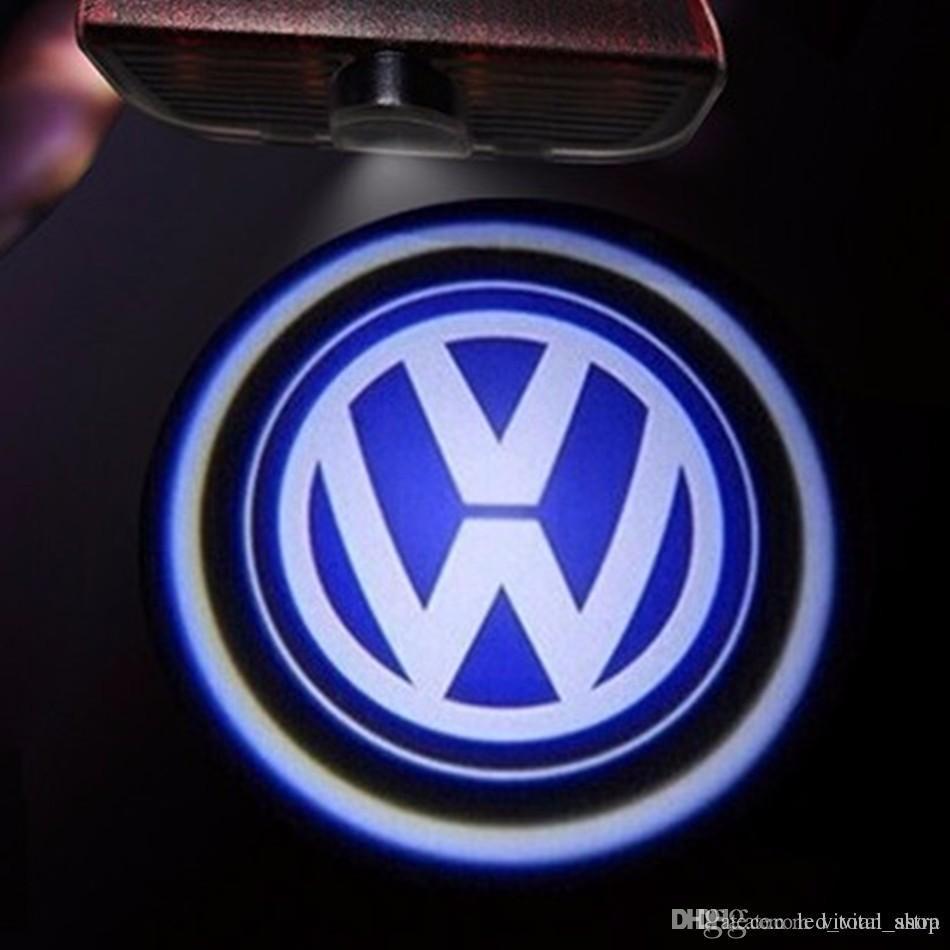 LED 도어 로고 프로젝터 라이트 for VW Passat B6 b7 골프 5 6 7 제타 MK5 MK6 CC Tiguan Scirocco VW R R 라인 로고