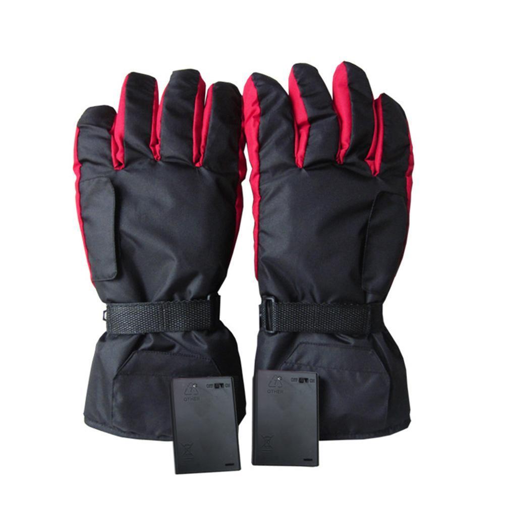 1 Paar Batterie-Carbon-Faser-Heizung Skihandschuhe Batteriebox Electric Power Ride-Handschuhe Intelligent Kontinuierliche Heizung