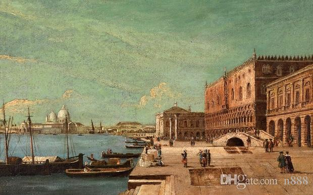 High Quality Handpainted & HD Print Oil Painting cityscape of Venice & great buildings and church Wall Art On Canvas Home Decor l210