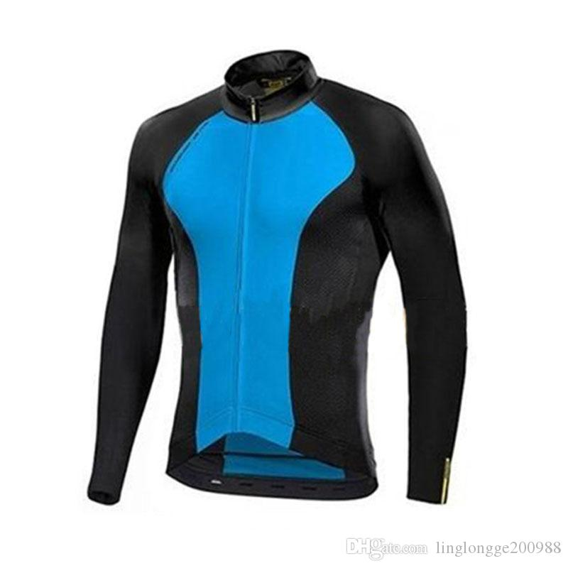 Mens En kaliteli Ropa Ciclismo Pro Ekibi 2018 Yeni Bisiklet Jersey Uzun Kollu Bisiklet Giyim Bisiklet Gömlek Maillot MTB Giysileri
