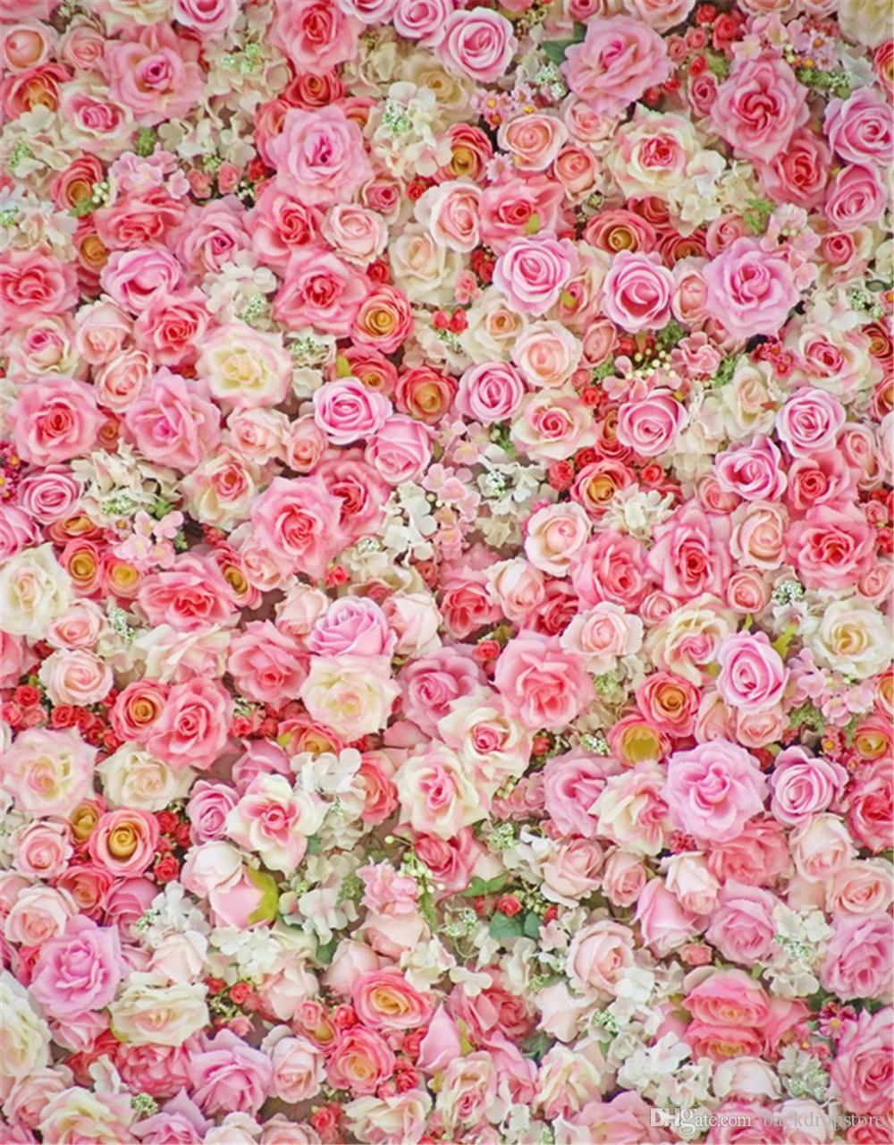 Impressão Digital Rosa Rosas Fotografia De Parede Fundos Bebê Recém-nascido Adereços Fotográficos Dia Dos Namorados Flores Do Casamento Photo Booth Pano De Fundo