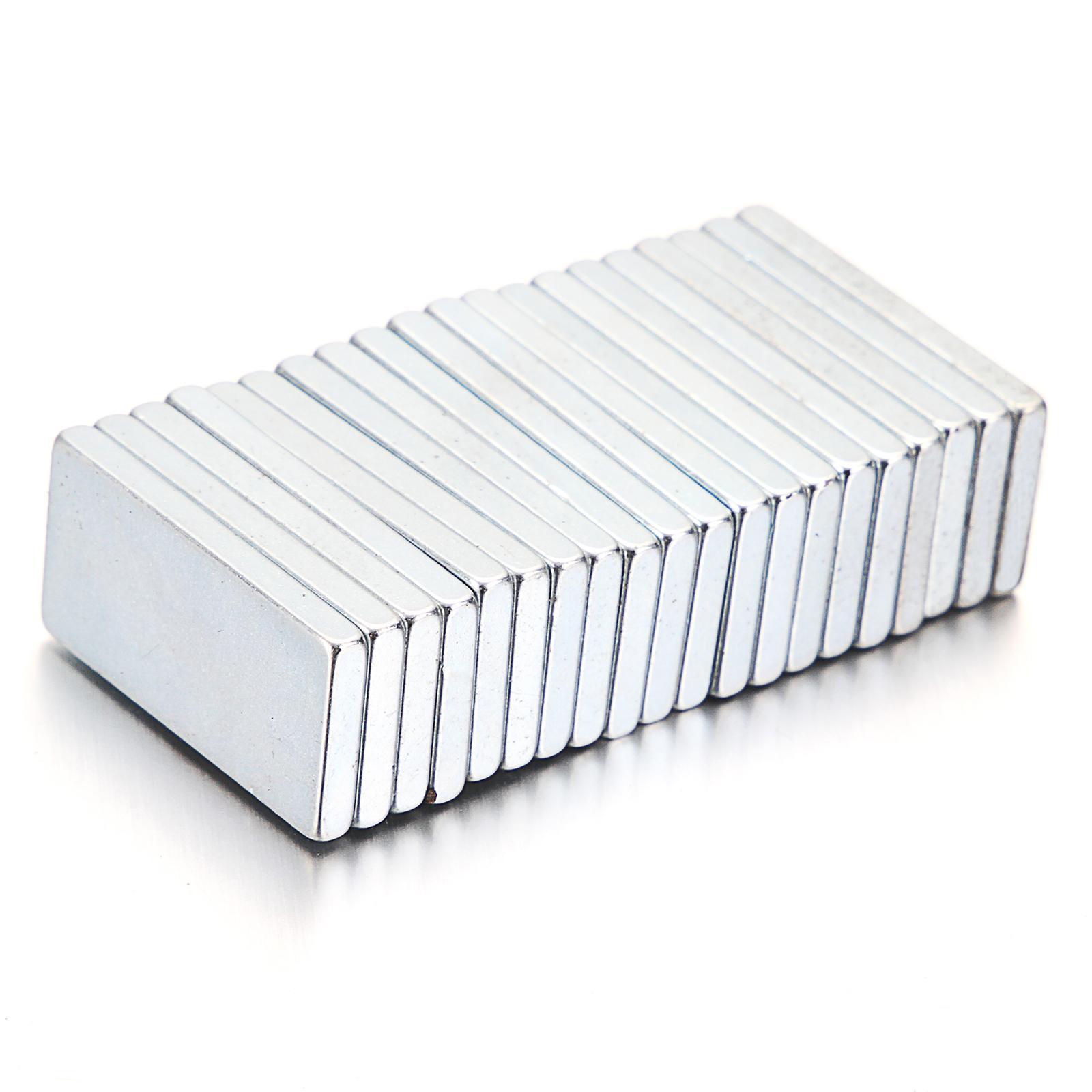 Brand new 5/10 / 20pcs Super Strong Block Fridge Magnets Rare Earth Neodimio 20x10x2mm