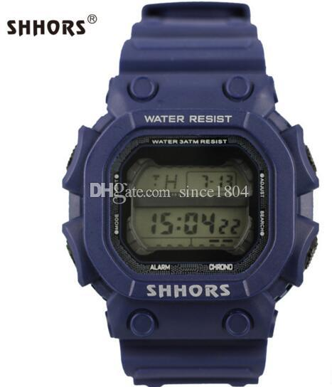 Shhors личность мода многофункциональный мужчины и женщины студент спортивные электронные часы