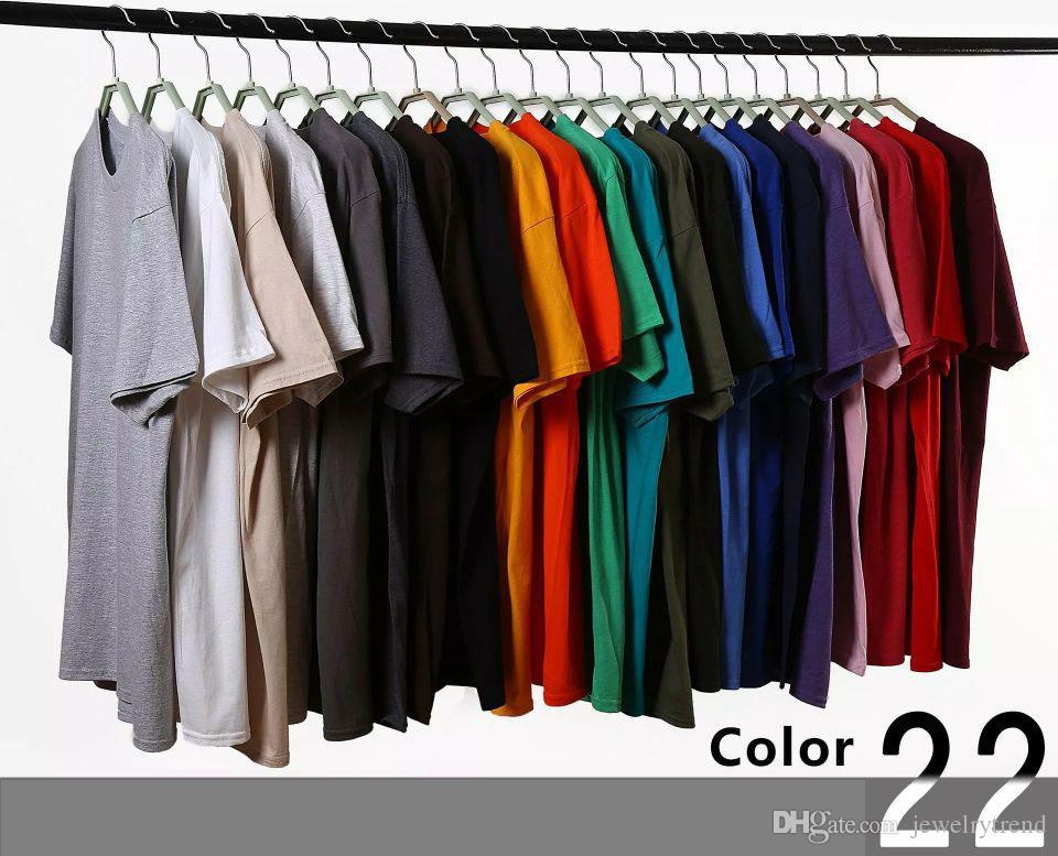 T-shirt uomo t-shirt uomo tinta unita T-shirt t-shirt uomo casual t-shirt manica corta in cotone uomo 22 colori S-3XL C3697
