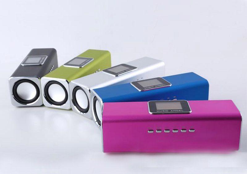 원래 새로운 음악 앙헬 JH-MAUK5B LCD 화면 활성 오디오 FM USB 휴대용 미니 스피커 SD / TF