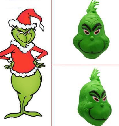 Grinch That Stole Christmas.Grinch Mask How The Grinch Stole Christmas Movie Green Latex Helmet Cosplay Props Full Head Cosplay Mask Kka6285 Masquerade Party Supplies Wholesale