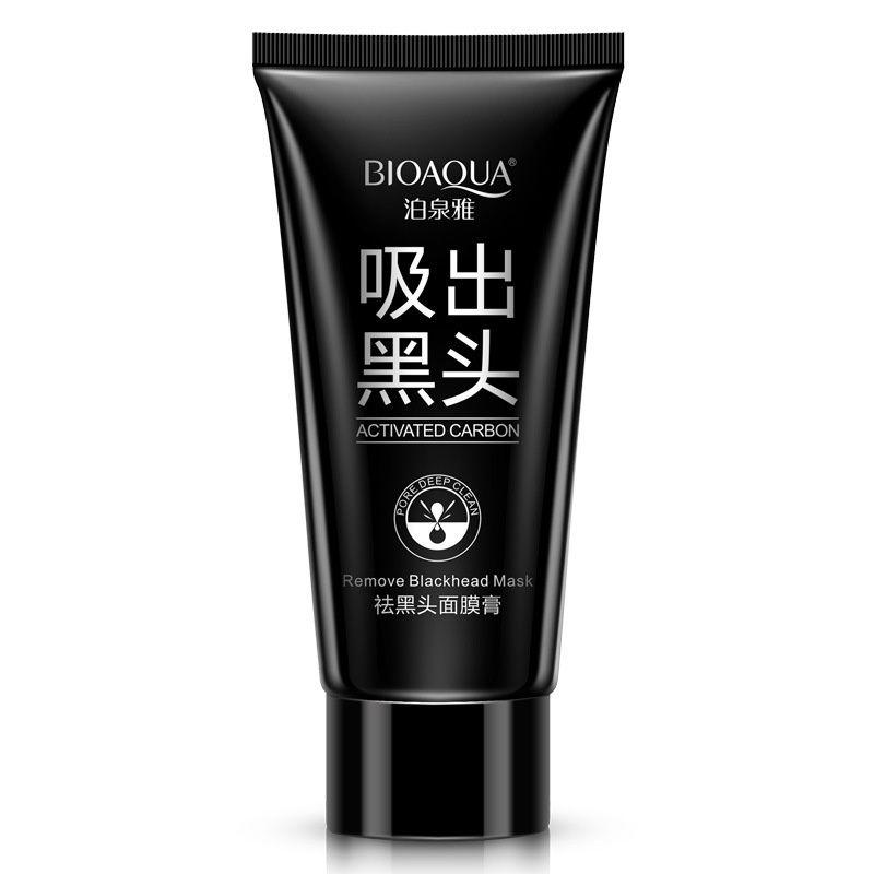 BIOAQUA Aspirazione Maschera nera Naso Rimozione di comedone Peeling Peel Off Black Head Trattamenti per l'acne Crema fango Carbone attivo Viso Cura della pelle