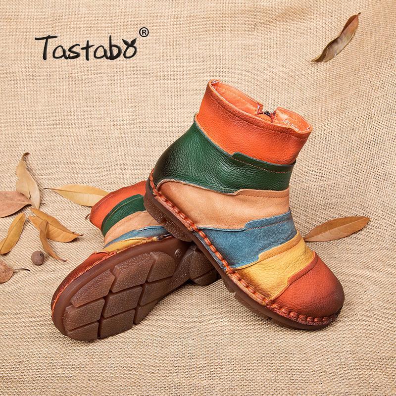 Leder Stiefel Design Frauen Schuh Großhandel Echtem Freizeitschuhe Handgemachten Martin Aus Knöchelschuhe Heißer Marke Retro Tastabo Vintage Verkauf hrCxtsdQ