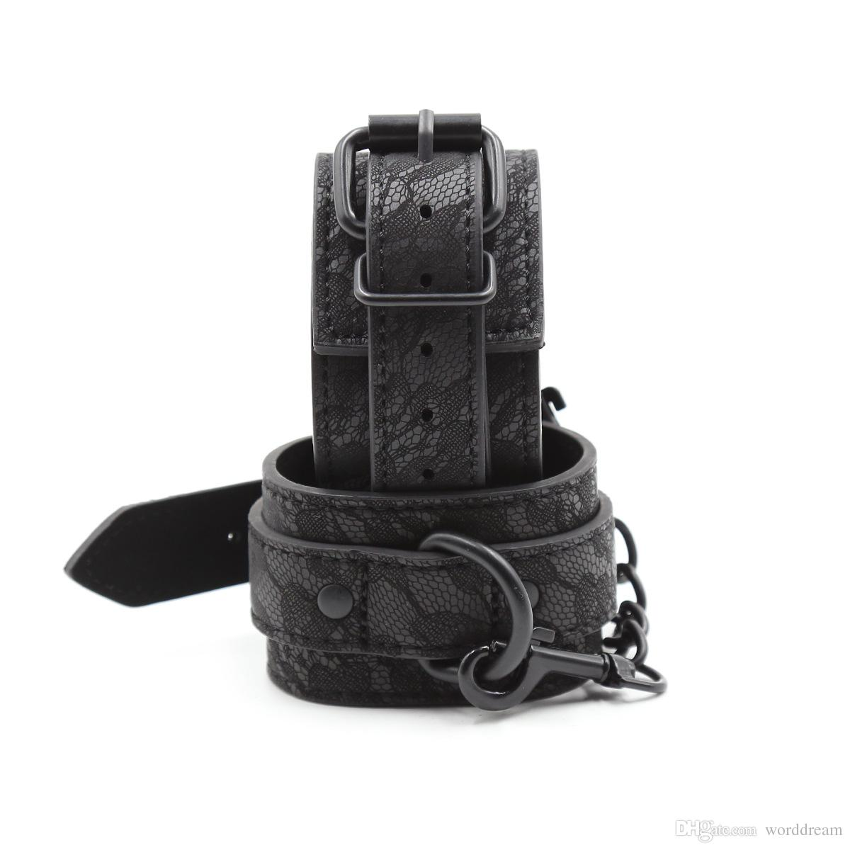 Hand Cuffs Bdsm Leather Wrist Cuffs Bondage Slave Restraints Belt In Adult Games For Couples Fetish Sex Toys For Women Men - HK10
