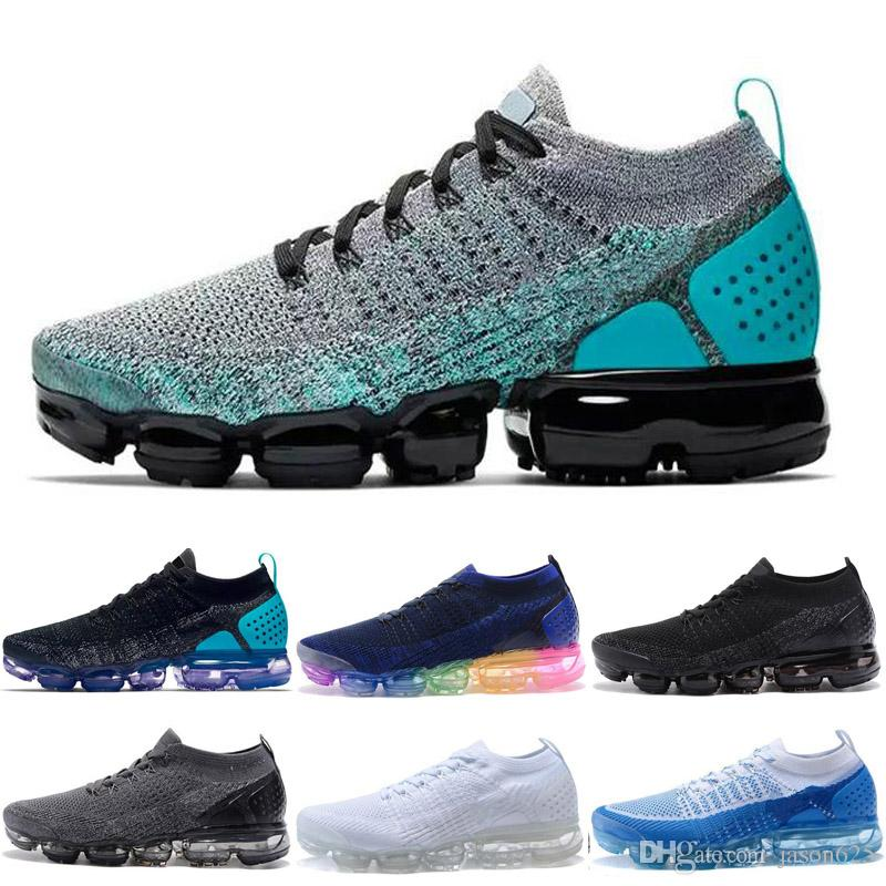 2018 Running Shoes Air Cushion 2.0 Men Women Outdoor Run Shoes Trainer Sport Shock Jogging Walking Hiking Designer Sports Athletic Sneakers Womans