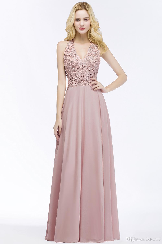 Compre Pearl Pink Borgoña Encaje Vestidos De Baile De Graduación Sin ...