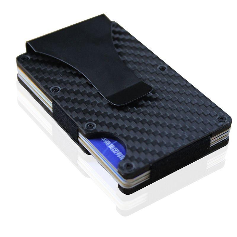 Chegada nova Mens Clipe De Dinheiro De Alumínio RFID Mini Bolsa Carteira Titulares de Cartão de Crédito de Negócios Fino Por Atacado Smail Traver Carteira de Viagem Venda Quente