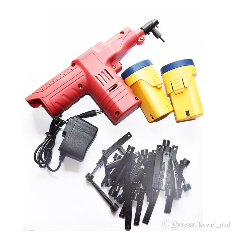 2018 Nuovo Dimple Lock Electronic Bump Gun Tool 45 pin Teste 2 PZ Batteria 12 V Porta Sbloccare Macchina Chiave di Taglio Macchina Fabbro Strumenti