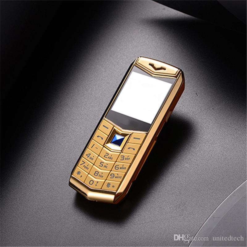 """Мини роскошный двойной sim-карты мобильный телефон 1.5 """" MP3 камеры Bluetooth фонарик металлический корпус разблокирован ужин мини дешевые мобильный телефон"""