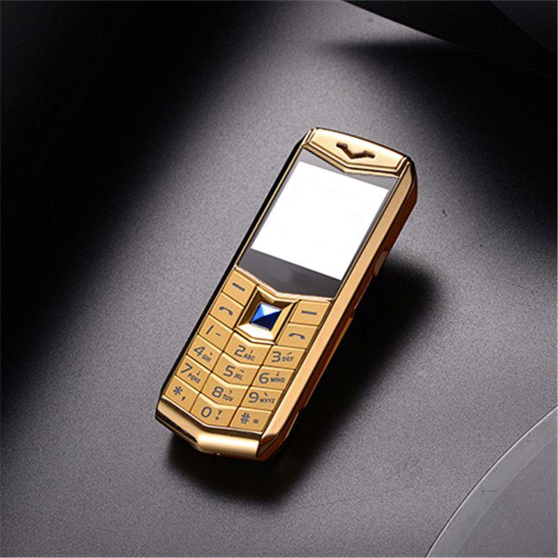 "Mini Tarjeta Dual SIM de lujo Teléfonos móviles 1.5 ""MP3 Cámara MP3 Linterna Bluetooth Metal Body Supper Pequeño teléfono celular"