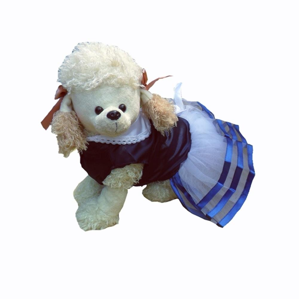 Strips Skirt for Small Puppy Dogs Birthday Party Blue White Dress for Dogs Pet Shop New Year Christmas Chihuahua Teddy XS S M