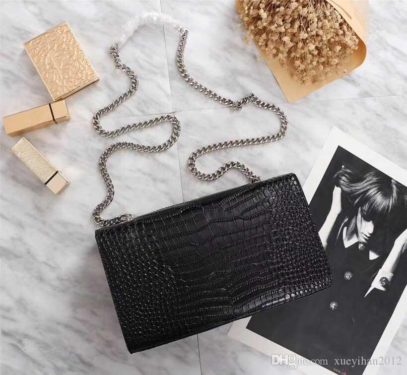 Hot! Wholesale new luxury women's shoulder bag, women's designer shoulder bag, women's crocodile leather chain bag size:24*5.5*14.5cm