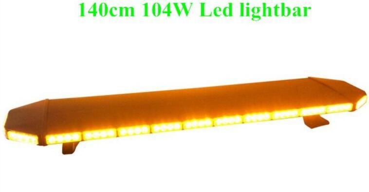 High intensity DC12V 140cm 104W Led emergency lightbar,truck warning light bar,strobe light for police ambulance fire vehicles,waterproof