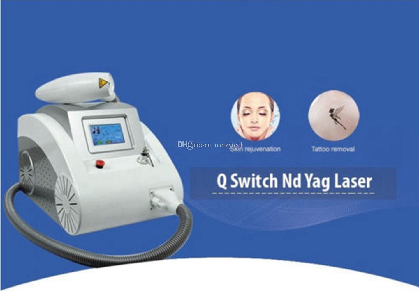 Machines de suppression de tatouage portable de haute qualité 532nm 1064nm 1320nm q commutateur ND YAG Laser Beauty Halky Device Whiten