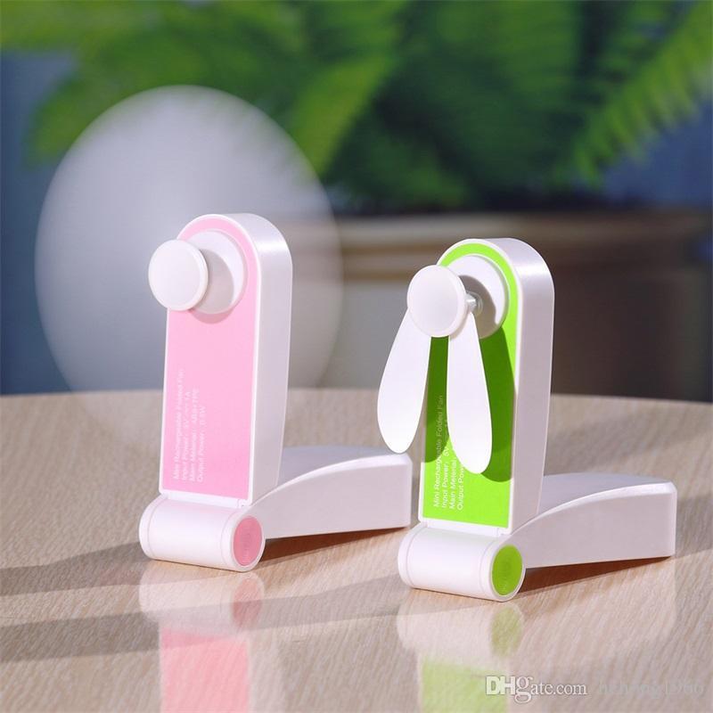 محمول USB اليد للطي مروحة الرياح ضبط البوق خفيفة الوزن قابلة لإعادة الاستخدام توفير الطاقة الإبداعية المراوح الكهربائية الملونة القابلة لإعادة الشحن 21wy وما يليها