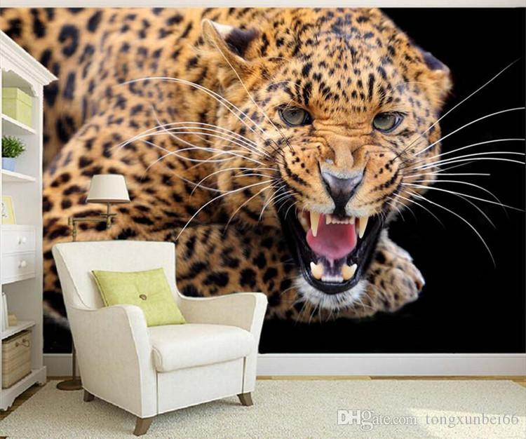 Personalized Customization 3D Stereo Animal Tiger Photo Wallpaper Living Room Bedroom 3D Landscape Design Mural Papel De Parede