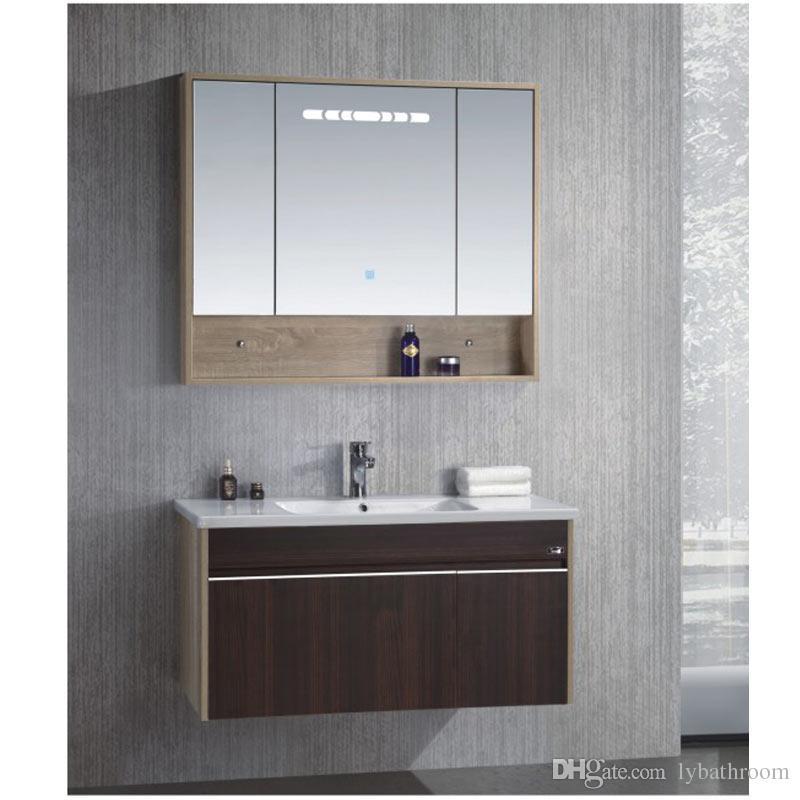 Solid Wood Bathroom Cabinets Bathroom Vanities Ceramic Vanity Vanity Sinks Bathroom  Wall Unit Bath Accessory set. 2019 Solid Wood Bathroom Cabinets Bathroom Vanities Ceramic Vanity