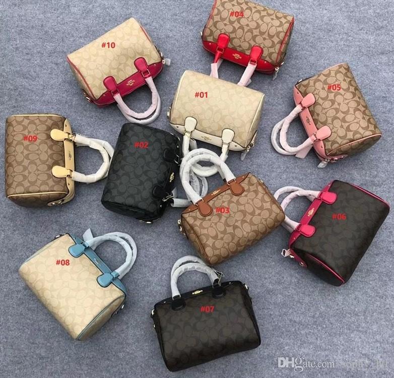 Bolsas de grife de alta qualidade Bolsa de luxo de moda de couro full-grain Clássico C grandes sacos de compras seis cores 58292