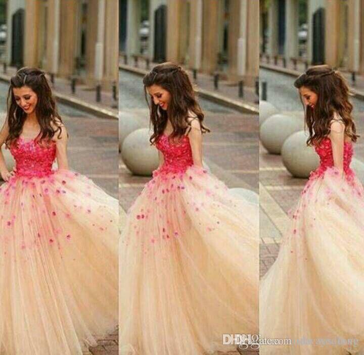 Kabarık Balo Elbise Gençler Için Yeni Varış Şampanya Rengi Uzun Genç Akşam Parti Kıyafeti Artı Boyutu vestidos de dresses