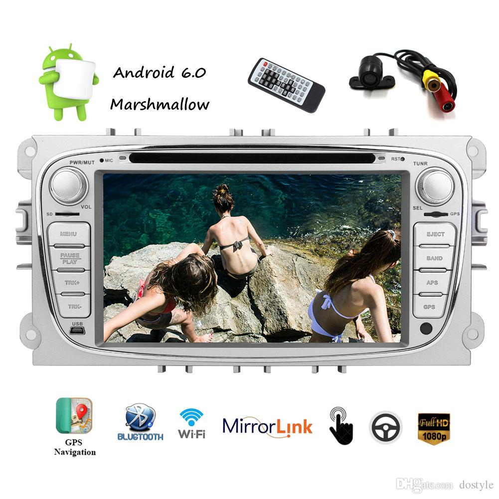 For Ford Car DVD Player Android 6.0 System 2Din Car Stereo Auto Radio Receiver 1080P Video Player 1G+16G Wifi/BT/AF/FM