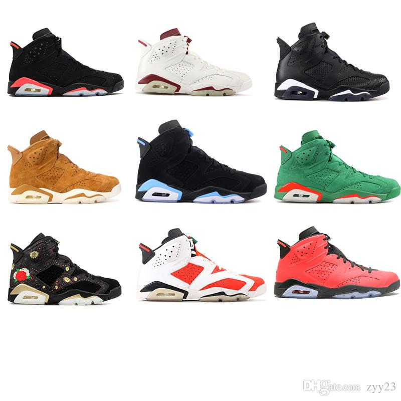 6 carmine basketball shoes Classic 6s UNC black blue white infrared low chrome women men sport blue red oreo alternate Oreo black cat