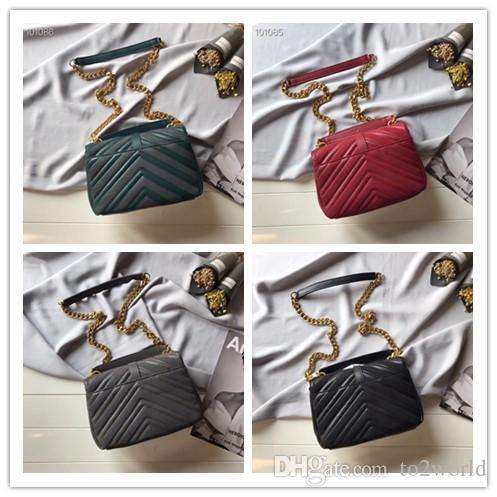 Высокое качество женщин большой Lampskin кожа Шеврон Crossbody сумка классический стиль винтаж золотая цепь сумка горячий стиль сумка