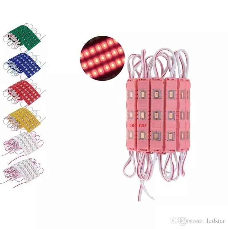 5730 3SMD Lente de bola redonda de inyección de alto brillo LED Módulo 12V Resistente al agua IP 67 Lámparas LED para signo de letra