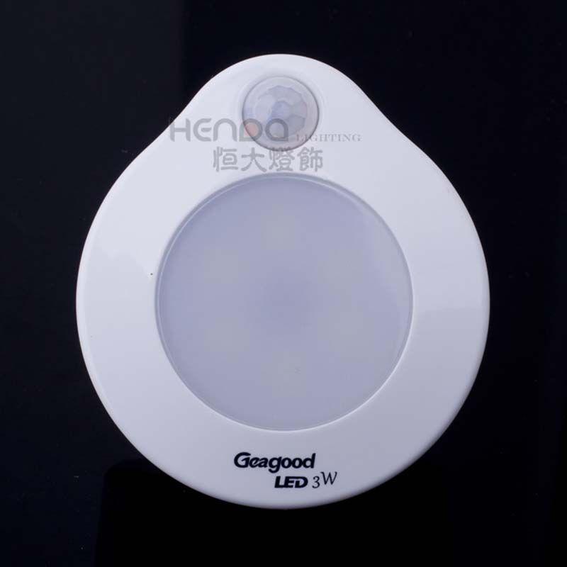Geagood Körper-Sensor-Lampe 3W Lichtsteuerung Sensor Nachtlicht kreative energiesparende LED für Schlafzimmer Licht Super Bright Sockel Beleuchtung Schalter